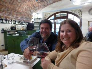 Italy Piedmont - Barolo Ben and Jill at Lunch - 11-13